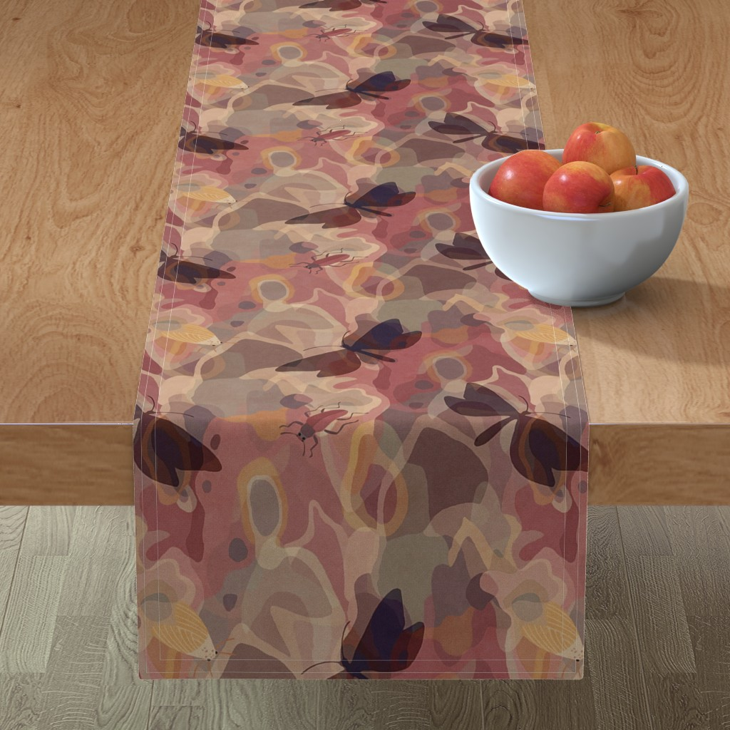 Minorca Table Runner featuring lively tree bark by dessineo