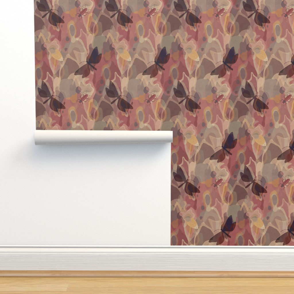 Isobar Durable Wallpaper featuring lively tree bark by dessineo