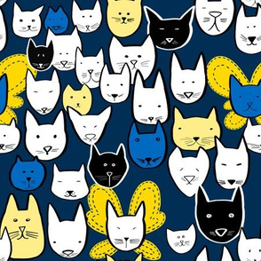 Cat faces and butterfly wings