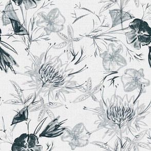 Japanese Flower _2 linen