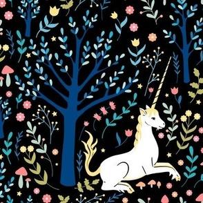 Black unicorn garden