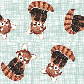 red panda textured