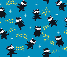 Ninja Cats with Star Power - Large