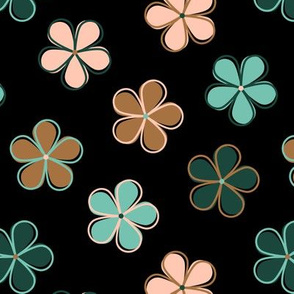 Retro Flowers Limited Color