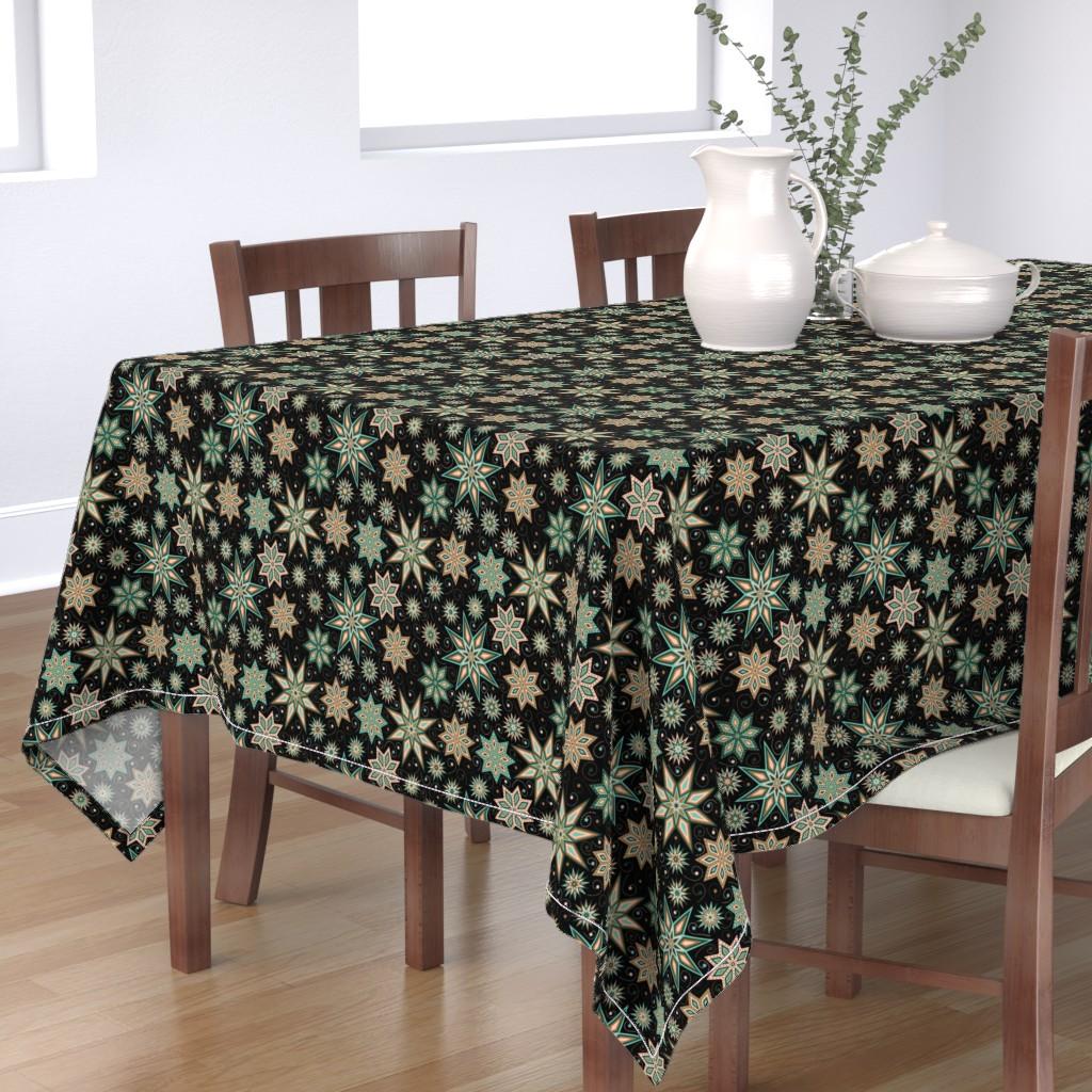 Bantam Rectangular Tablecloth featuring Stars Galore by willowbirdstudio