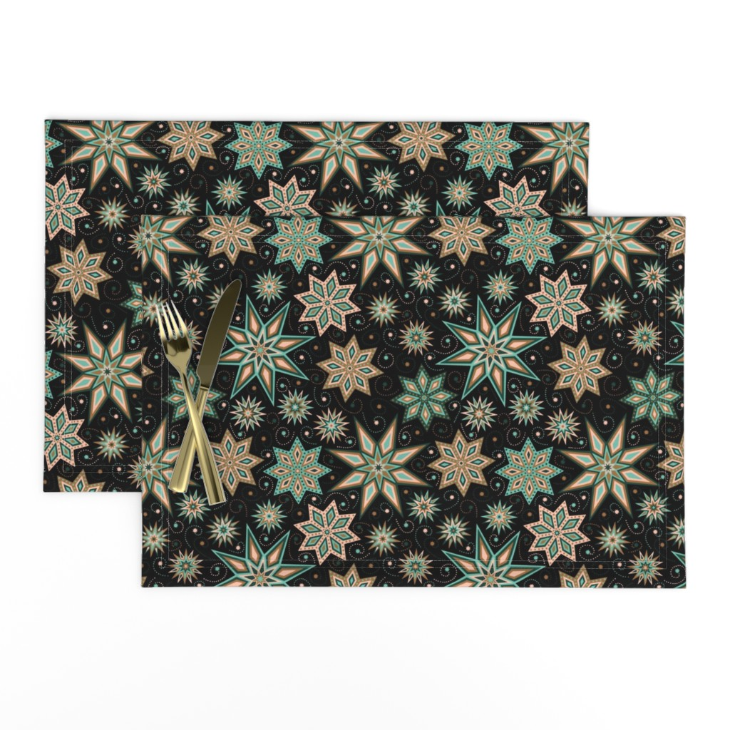 Lamona Cloth Placemats featuring Stars Galore by willowbirdstudio