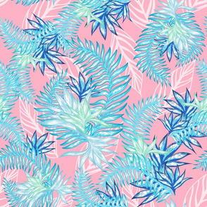 Tahitian Tropical Palms pink