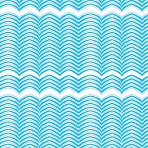 Blue and White Wavy Horizontal Stripe - Sweet Tweets 21