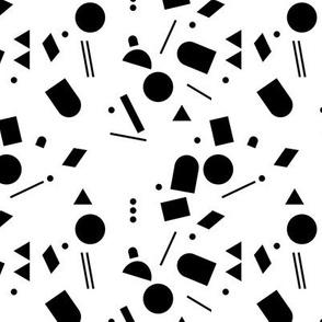 Geometric elements minimal trend design  spring summer abstract for swim black navy blue winter