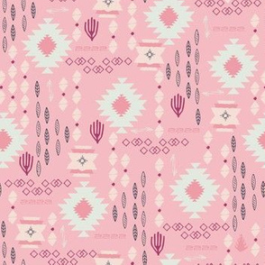 Tribal Aztec Incan Story pink