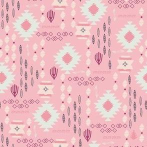Tribal Aztec Incan Story pink
