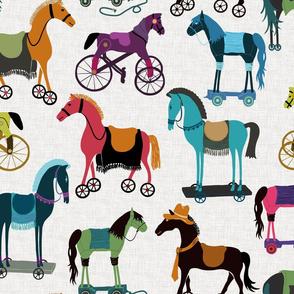 Horses With Wheels - Rainbow