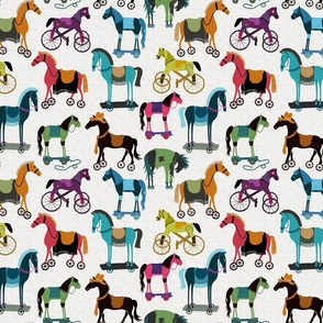 Horses With Wheels - Small - Rainbow