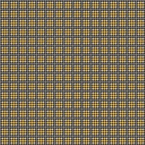 Houndstooth Plaid M Gold Yellow