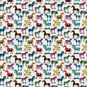 Horses With Wheels - Mini - Rainbow