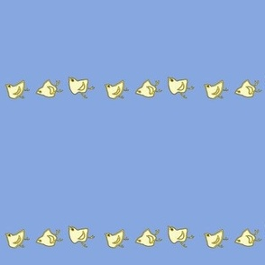 Little Chicks Border L Blue