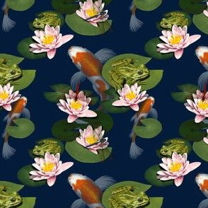 Koi Pond, Lily Pads & Frogs