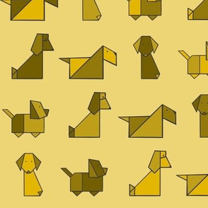 Origami Puppers Yellow