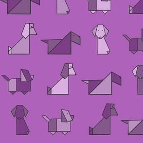 Origami Puppers Purple
