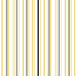 Yellow, Black and White Vertical Stripe Sweet Tweets 3