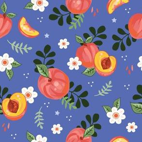 Peachy on Cobalt Blue