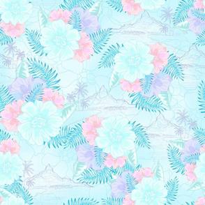 Blue Tahitian Toile