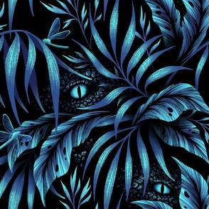 Jurassic Jungle - Petrol Blue