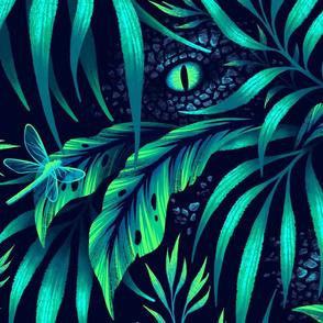 Jurassic Jungle - Emerald Green - LARGE