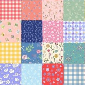 Happy Summer Patchwork Quilt