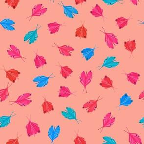 Toledo butterflies coral pink