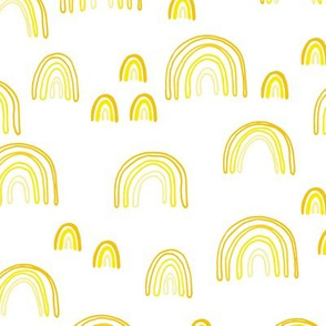 Sweet dreams rainbow sky summer love abstract trendy Scandinavian rainbows neutral yellow
