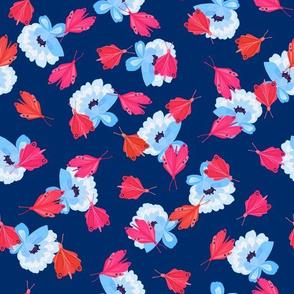 Toledo Muse Butterflies navy