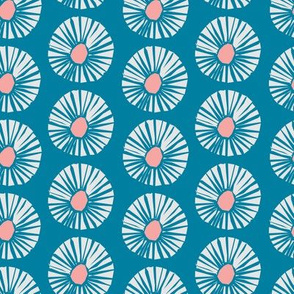 Retro Floral Blue