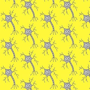 Cute Neuron - on yellow