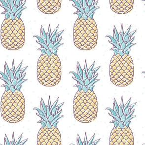 Pineapple Retro Bleach seamless pattern background.