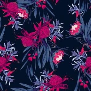autralian native flora_blue