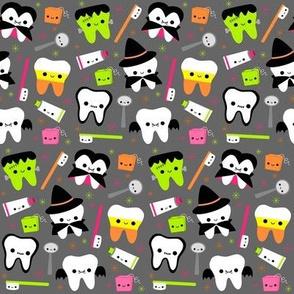 Halloween Teeth - Gray MEDIUM