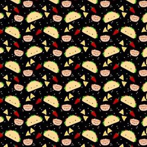 SMALL Taco Tuesday Party -Black Tiny Mini