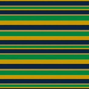 Horizontal Stripes in Gold Green and Blue