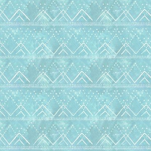 "Celestial Geometric Mountain - Scaled to 1.5"" Rows - Icy Blue"