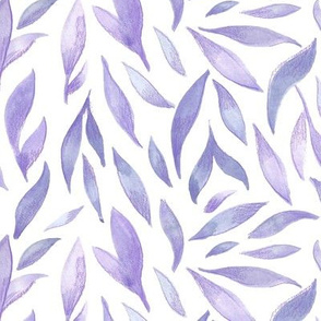 Watercolor Leaves - Lilac