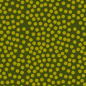 bubble dot greens