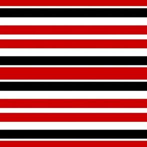 Red White and  Black Horizontal Stripes