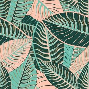 Tropical Leaves by ArtfulFreddy