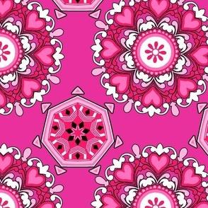 Circular Valentine Tiles
