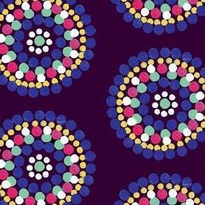 Water color circles (plum)