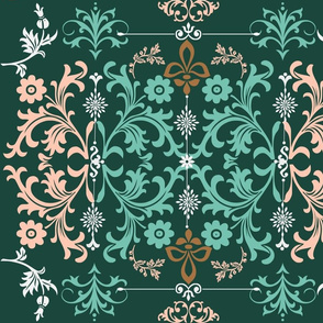 Abstract Damask Style