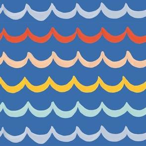 Sea Waves on Royal Blue