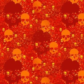 skull batiks o