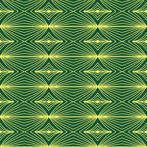yellow geometry on green